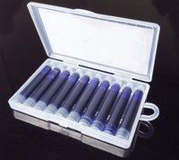 Precio de Cartuchos de tinta de la fuente al por mayor-Venta al por mayor 10pcs / lot cartucho de tinta azul desechable pluma recargas de diseño universal de duración bolsa de tinta pluma