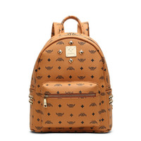 Wholesale NEW Arrival Punk Style Women Backpack Casual School Bags Colors Leather Men Backpack Rivet Printing Backpack Fashion Women Bags