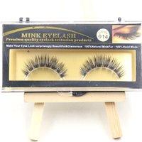 animal hair extensions - Beauty False Eyelashes Extension Black Natural Fake Eye Lashes Water Mink Animal Hair False Lashes Pairs set