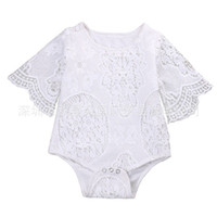Wholesale Hug Me Baby Rompers Toddler Girls Clothing Spring Summer Fashion Floral Fly Sleeve Romper FF