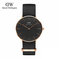 alloy fashion - Retail Fashion Luxury Brand DW Watch Style Nylon Strap MM Daniel Men Women Wellington Wristwatch montre femme