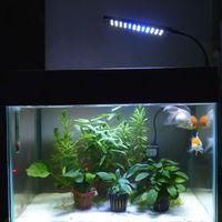 Дешевый Водить танк огни рыбы-48 аквариума СИД Свет Kit для аквариумы Цвет освещения Белый Синий plugUS ЕС Plug