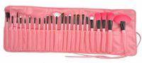 Wholesale Make up Brushes Professional Cosmetic Brush Kit Nylon Wool PU Leather Soft Package Eyeshadow Foundation Shade Tools DHL Free