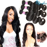baby hair extensions - Peruvian Body Wave Lace Frontal Closure with Bundles Bundles Hair Extension Weave with Closure Human Hair With Baby Hair