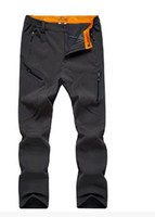 Wholesale Hot Selling Charge of pants male hair thickening Outdoor soft shell pants new winter wind pants men s movement