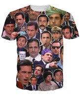 animal face tees - Many Faces of Michael Scott Paparazzi T Shirt Fashion summer style t shirt Character tees tops for women men