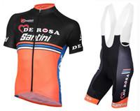 santini - 2017 Santini team Cycling Clothing Cycle Clothes Racing Bicycle Wear Ropa Ciclismo MTB Bike Wear maillot Cycling Jerseys GEL pad bib pants