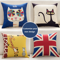 Wholesale Throw pillows pillow covers Customize your own throw pillow case just send designs sides print linen cotton Square inch great gift