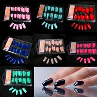 acrylic nails tools - Women Lady Hot Sale False Fake Acrylic Gel French Nail Art Half Tips Salon Colorful False Nail Tips Makeup Tools