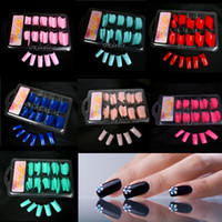 Wholesale Women Lady Hot Sale False Fake Acrylic Gel French Nail Art Half Tips Salon Colorful False Nail Tips Makeup Tools