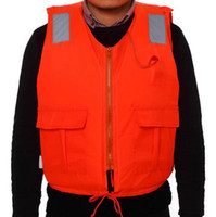 Wholesale Professional Swimwear Swimming jackets Life Jacket Water Sport Survival Dedicated Life Vest with Pocket and Zipper