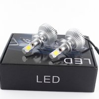 Wholesale Integrated car front light bulb car converted special H7 H4 H1 distance beam W W set LM DC v LED car headlamps