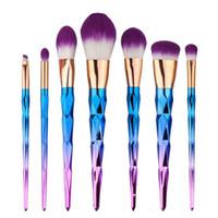 2017 Nouveau Kit Pinceau Professionnel Vander 7pcs Crème Puissance Pinceaux Professionnels Maquillage Beauté Multi-usage Cosmétiques Puff Batch Kabuki Blusher
