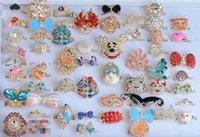 Wholesale Jewerly Rings Wings Of The Angel Love Fox Butterfly animal cartoon diamond rhinestone Ring For Women multi style