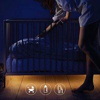 bedding wire - WeeLight Kids Bedroom v LED Night Light Sensors Automatically Lighting Bed Light Plitter Smart Probe LED Strip Lights