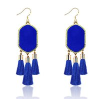 Wholesale Geometric Kendra Scott Style Earrings Glittery Acrylic Stone Tassel Chandelier Dangles Earrings For Women Gold Plated Earrings