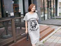 Wholesale South Korea maternity maternity wear cotton short sleeved dress fashion long lactation Maternity Skirt for pregnant women14126