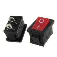 Wholesale 100pcs Red Button Pole SPST ON OFF Mini Boat Rocker Switch A V A V AC