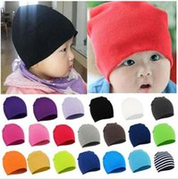 Wholesale Fashion Baby Boy Girl Infant Soft Cotton Cute Knitted Warmer Hats Beanies Autumn Winter Warm Cap