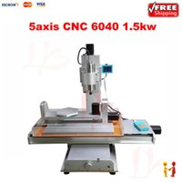 Wholesale 6040 cnc router W spindle Ball Screw axis cnc engraver engraving cutting machine for metal aluminum Wood
