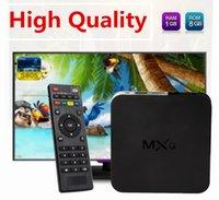 al por mayor venta reproductor multimedia-Alta calidad MXQ TV BOX Amlogic S805 Quad Core Androide 4.4 Media Player enraizó la actualización en línea Kodi Android TV Box ¡Venta libre de DHL !!!
