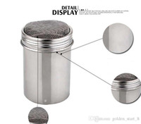 Wholesale New Arrival Stainless steel Chocolate Shaker Cocoa Flour Icing Sugar Powder Coffee Sifter Lid