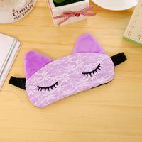 Wholesale Sleep Mask Brands - Brand New Cute Microfiber Eye Mask Padded Rest Travel Sleeping Blindfold Shade Light Cover Free Shipping[JKE0002]