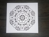 Wholesale laser cut stencils Masking template For Scrapbooking drawing and more Lace flower
