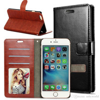Wholesale High Quality Wallet PU Leather Cases with Card Slot Photo Frame For Iphone S Plus S6 S7 Edge S8 Pllus Note