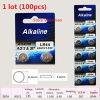 alkaline watch battery - AG13 LR44 A L1154 A76 V alkaline button cell battery for remote toy key watch