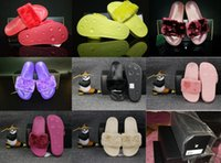 Wholesale With dust bag leadcat Fenty rihanna slippers indoor shoes sandals sliding wear fashionable men and women nine color