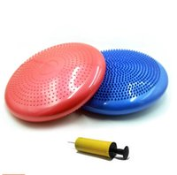Wholesale Fitness hemisphere balance ball yoga massage cushion movement soft mat plate thickening riot air pump