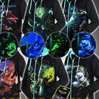 Wholesale 2016 Autumn Hooded Zipper MEN Jacket LOL Luminous Fluorescent Jacket Raisevern New D Zipper Hoodie Fashion Trippy DesignTranscension