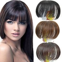 Wholesale Capless Clip Straight Synthetic Full Bang Multi Colors