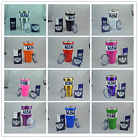 Wholesale 15 Colors Yeti Rambler Beer Cup oz oz Yeti Cups Tumbler Stainless Steel Double Wall Vacuum Insulated Travel Mug with lid DHL free