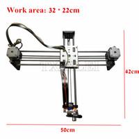 Wholesale DIY Smart Writing Drawing Robot Mini XY Axis CNC Pen Plotter Machine Advanced Toy Stepper Motor Drive Inkscape x22cm