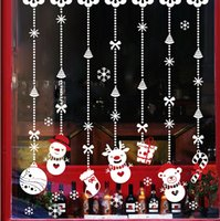 art gifts shops - Hot Sale Christmas Shop Glass Window Stickers PVC Classic Hanging Snowman Gift Xmas home decor Christmas Ornaments Wall Sticker