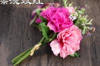 Wholesale Hydrangea bouquet of Peony simulation flower artificial flower export in foreign trade wedding home decor