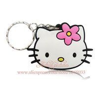 best party favors for kids - Hello Kitty Cartoon Figure PVC Keychains Charms Pendants for Bags Stationery Set Best for Kids Party Gifts Favors