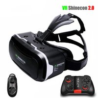 Wholesale VR Shinecon Virtual Reality Glasses helmet VR Box D Glasses Headset Cardboard For inch Android IOS Smartphone