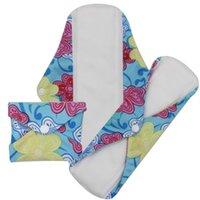 Pañales sanitarios femeninos reutilizables lavables del paño del cojín de las señoras de las pequeñas mujeres femeninas al por mayor libres de la venta al por mayor del envío