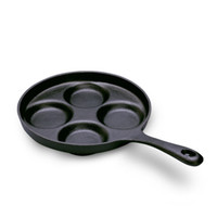 Wholesale High Qulity Cast iron frying egg pan diameter of cm no coating with round holes