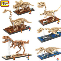 auction toys - LOZ Mini Blocks Dinosaur DIY Building Bricks Fossil D Auction Figure Tyrannosaurus Rex Micro Blocks Kids toys Boys and girl Gifts