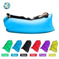 Wholesale 240 cm Fast Inflatable lamzac Laybag Air Sleep Bag Camping Portable Air Sofa Beach Bed Hammock Nylon Lazy Bag Lounger