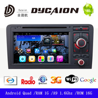 Wholesale 2 Din Android Car Stereo DVD Player with G WIFI GPS Navi Mirror Link Autoradio FM AM for Audi A3
