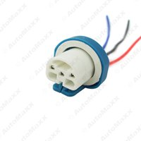 al por mayor xenón portalámparas adaptadores-9007 Ceramic Socket Xenon Lamp Arnés de cableado para faros 9007 Luz bombilla titular conector adaptador # 5462