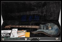 Wholesale custom guitar Blue flamed maple top Mahogany body maple neck rosewood fingerboard color can custom