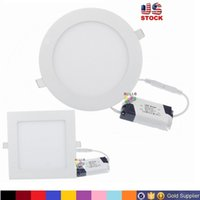 9W/12W/15W/18W/21W bathroom knobs - Dimmable W W W W W CREE Led Recessed Downlights Lamp Warm Natural Cool White Super Thin Led Panel Lights Round Square V