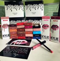 Wholesale Christmas gift latest colors KYLIE JENNER LIP KIT Kylie Lip Velvetine Liquid Matte Lipstick lipliner in Red Velvet Makeup Lip Gloss