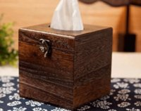 Wholesale New Hot Wood Tissue Box Holder Cover Home Decor Bathroom Storage Box cm